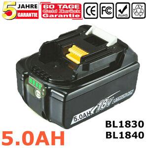 For Makita 18V BL1850 BL1860 18 Volt 5.0Ah LXT Li-Ion Cordless Battery BL1840 1P