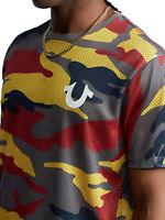 True Religion Men's Allover Camo Mesh Crew Tee T-Shirt in Primary Camo