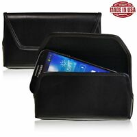 Samsung Galaxy S4 Holster Black Belt Clip Case Pouch Leather Turtleback