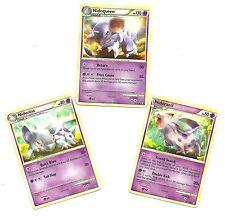 RARE NIDOQUEEN +NIDORINA+NIDORAN -3 EVO Pokemon Cards- HS TRIUMPHANT- MINT