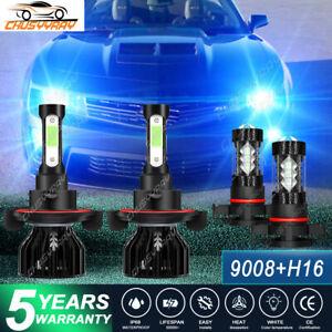 For Chevrolet Camaro 2010-2011 LED Headlights Kit Fog Light 8000K Bulbs Ice Blue