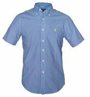 RALPH LAUREN New Gingham Check Pattern Mens Shirt Short Sleeve Pony Logo BNWT