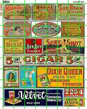 2004 DAVE'S DECALS TOBACCO SET WALL BUILDING CIGAR BUILDING ADVERT SIGN VINTAGE