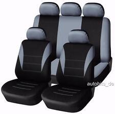Sitzbezug Sitzbezüge Schonbezüge für PEUGEOT 206 207 307 308 Grau Komplettset G