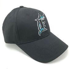 Florida Marlins Outdoor Cap Youth Adult Sizes Adjustable Hat Black Silver Logo