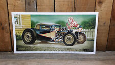 SIGNED KEITH WEESNER POSTER PRINT 1930 FORD HOT ROD MODEL A 31 RAT PINUP ART BNI