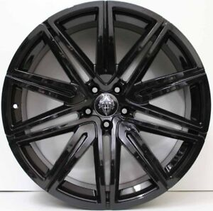 21 IN GNUINE HRS ALLOY WHEELS  FIT BENTLEY CONTINENTAL GT & FLYING SPUR IN BLACK