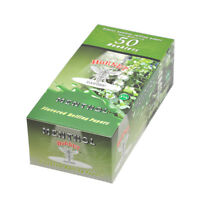 HORNET MENTHOL Flavored Cigarette Rolling Paper,1 1/4 Size 50 Papers Per Pack