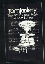 Tomfoolery the Words & Music of Tom Lehrer 1989 Geva Theatre Porgram