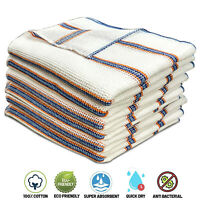 Towelogy® 100% Cotton Dish Cloths Jumbo Waffle Weave Kitchen Tea Towels 35x40cm