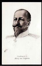 c1910 Stengel King Ferdinand I Bulgaria Royalty in uniform postcard