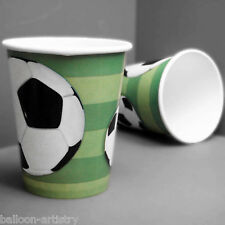 8 Football Sports Party 9oz Disposable Paper Cups