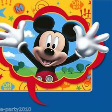 MICKEY MOUSE Fun & Friends LARGE NAPKINS (16) ~ Birthday Party Supplies Dinner