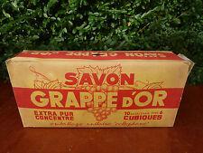 Ancien  savon, 10 Savon  extra, GRAPPE D'OR dans emballage d'origine non ouvert