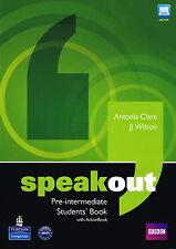 Longman SPEAKOUT Pre-Intermediate Student Book with ActiveBook CD-ROM @BRAND NEW