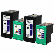 4PKsHP 96 97 Black & Color Ink Cartridge C8767WN C9363WN HP96 HP97