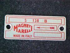 Ferrari Engine Ignition Distributor Data Tag Plate Magneti Marelli 250 275 OEM