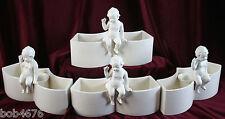 Set of 4 1940s Moriyama Angel Porcelain Candleholders PERFECT FOR WEDDING PARTY