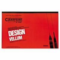 Clearprint Design Vellum Paper, 16lb, White, 11 x 17, 50 Sheets (CLE10001416)