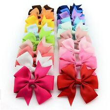 Baby Girls Grosgrain Bow Hair Clip Pin Aligator Clips Flower Hair Accessories