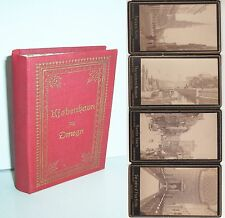 Uraltes Leporello CdV Fotos Kobenhagen København Dänemark um 1880 / 90 Harboe
