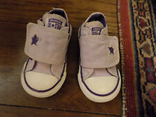 Toddler baby Converse One Star sneakers lilac purple Velcro sz 5 VGUC Clean CUTE