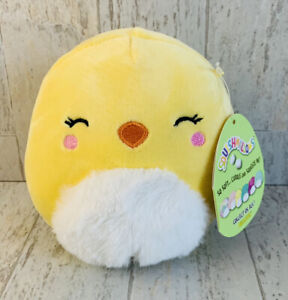 """Squishmallow 5"""" Chuck the Chick Easter Squad 2019 Kellytoy"""