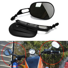 Black Motorcycle Mirrors Moto Rearview Custom Mirrors Hollow styling for Harley