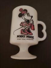 Walt Disney Vintage Minnie Mouse Mug Heart Shaped Handle 1980's Rare Coffee Mug