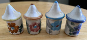 Dollhouse Miniature Vintage Ceramic Canister set with Lids 1:12
