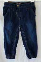 Baby Girls Primark Blue Denim Cuffed Leg Harem Hareem Jeans Age 12-18 Months