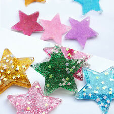 3Pc Christmas Resin Five-Point Stars Flatback Scrapbooking XMAS Tree Home Decor