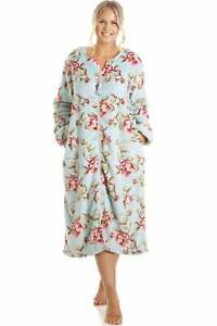 Camille Womens Floral Katie Zip Robes