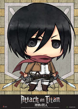Attack on Titan Chibi Mikasa Wall Scroll Poster Anime Manga NEW