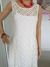 Vestido De Verano QED BNWT Hermoso Fit & Flare Encaje Tamaño 12/14 Totalmente Forrado