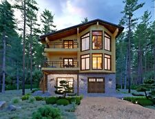 Modern Log House Kit #Lh-190 Eco Friendly Wood Prefab Diy Building Cabin Home
