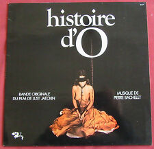 HISTOIRE D'O  LP ORIG FR  BOF OST BACHELET   SEXY COVER