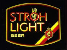 Vintage Stroh Light Beer Bar Lighted Neon Sign