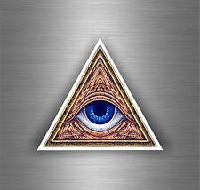 Sticker decal art wall car moto biker illuminati pyramid eye of providence see Z