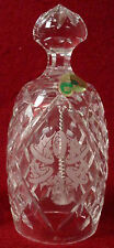 WATERFORD crystal bell 12 Days of Christmas 5 Golden Rings 1988 - 4-1/2""