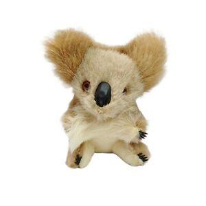 Vintage Real Fur Australian Souvenir Koala Plush Soft Stuffed Animal Toy 14cm