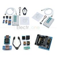 TL866II Plus Programmer TL866 USB EPROM EEPROM w/ 7 Adapters Socket Extractor