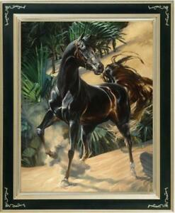"Hand-painted Original Animals Oil painting art runing horse on Canvas 30""x40"""