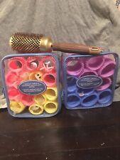 Bundle Vintage Retro Conair Hair Rollers 2 Pks W Ceramic Brush By Olivia Garden