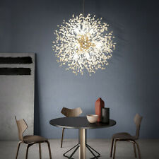 Unique Crystal Beads Ceiling Lamp Fireworks Pendant Light Dandelion Chandelier