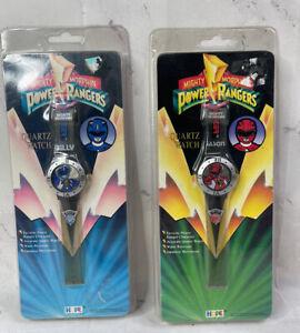 1994 Red Power Ranger Blue Power Ranger Lot 2 Wrist Watch In Sealed Package Hope