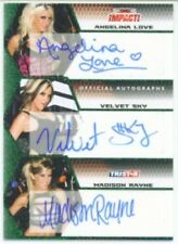 "VELVET SKY ANGELINA LOVE MADISON RAYNE ""AUTOGRAPH CARD /10"" TNA IMPACT 2009"