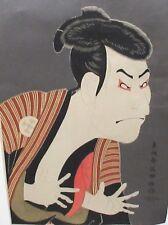 TOSHUSAI SHARAKU JAPANESE MAN WOODBLOCK