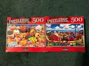 500 lot of 2 Piece Jigsaw Puzzle Barcelona & Cookies Puzzlebug, Free Shipping