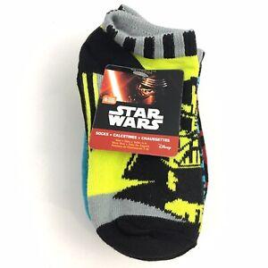6 PAIR Star Wars Boys Socks Size 4-6 SHOE SIZE 7-10 NWT Ankle Low Cut